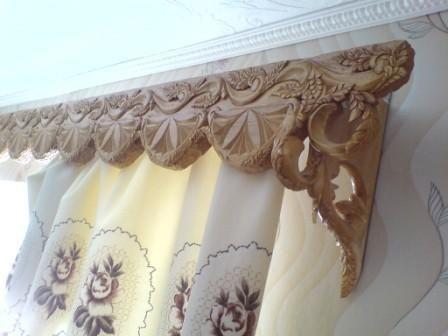 Карнизы из дерева для штор